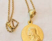 Necklace - Sta Maria Magdalena 29mm - 18K Gold Vermeil
