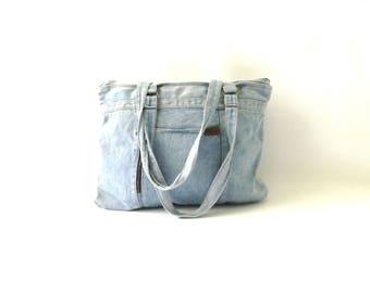 Vintage Light Denim SHANE Bag