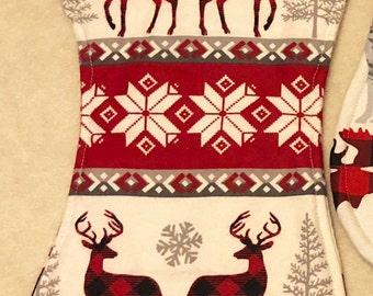 Winter Reindeer Burp Cloth