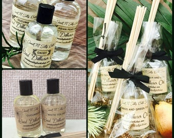 Reed Diffuser Oil Refill with Reeds-Relaxation Aromatherapy/Bamboo & Green Tea/Spearmint Eucalyptus and More!!