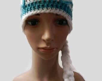 Crochet Frozen Elsa Hat Toddler, Child V5651
