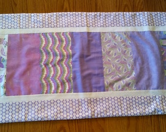 Lilac & Birds Printed Table Runner