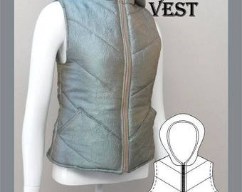 Ladies Padded Vest Sewing Pattern