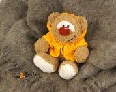 OOAK teddy bear Plush teddy bear Girlfriend gift Stuffed bear lover gift plushie bear Birthday gift for girl Woodland animal Stuffed animals