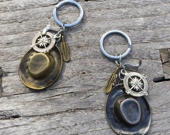 WANDERLUST Key Chain | Cowboy Key Chain | Ranch | Western Key Chain | Western Gift | Gift for Him | Rustic Key Chain