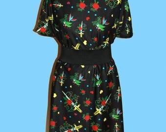 TATTOO DRESS (Handmade & custom printed fabric!)