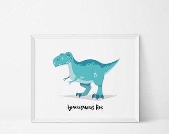 T Rex, Dinosaur Wall art, Dinosaur Nursery, dinosaur room decor, boys room, dinosaur print, Dinosaur decor, dinosaur printable, jurassic art