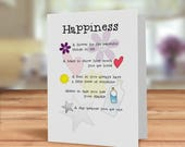 Happiness card, friendshi...