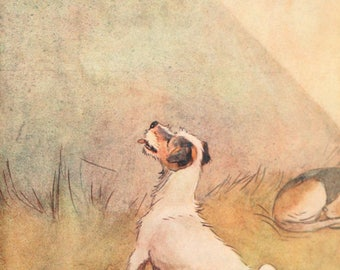 "Cecil Aldin Dog Print ""White Ear and Peter"" (1912) No:15 of 15"