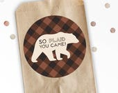 So Plaid You Came - Favor Stickers - Favor Bag Stickers - Wild ONE - Nature Birthday - Woodland Birthday - Lumberjack Favor Stickers