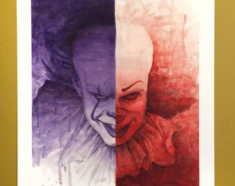 "Stephen King's Pennywise ""IT"" print 13""x19"""
