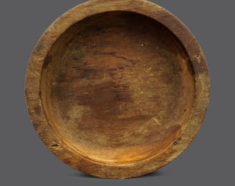 1946 Round Wooden Container Serving Tray MCM Modern Decor Wood