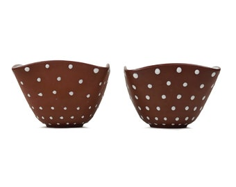 Norwegian Ceramic Bowl Set Porcelain Bowls Mid Century Modern MCM MOD Made in Norway