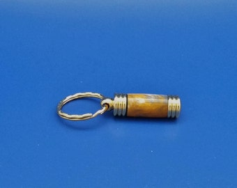 Keychain, Handcrafted, Acrylic, secret compartment, Gold
