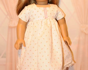 Rose Bud Cotton Nightgown