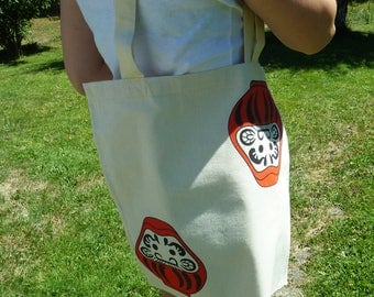 Tote bag screen daruma