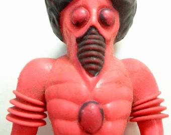 Original ORBITRON Figure, The Man From Uranus, COLORFORMS ALIENS,Vintage 1960s The Outer Space Men series. Science Fiction Bendable Toy
