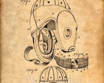 Football Helmet Patent Print, Football Prints, Football Posters, Football Art, Football Patent Art, Football Wall Art