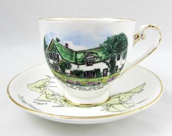 Royal Grafton Anne of Green Gables Home Tea Cup and Saucer, Prince Edward Island Souvenir, Vintage Bone China Teacup