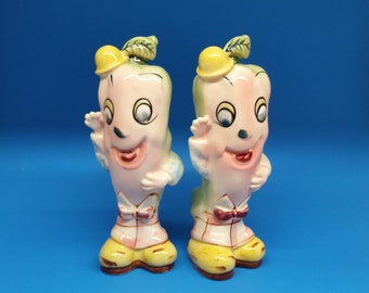 Rare Extra Large Anthropomorphic Jalapeno Pepper Salt and Pepper Shakers