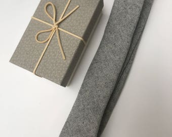 Men's Luxury Wool Tie, in Beautiful Gift Box - Choose From 3 Tie Colours and Gift Boxes