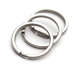50pcs Stainless steel Key Ring Key Chain Round Split keychain Split rings 28mm or 30mm