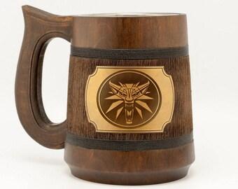 Witcher Mug Witcher Gift Witcher Wolf Geralt Medallion