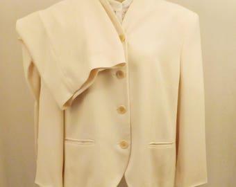 Vintage Lauren Winter White Pants Suit  Ralph Lauren Size 14