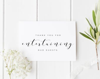 Wedding Singer Card, Wedding DJ Thank You, Band Thank You Card, Wedding Vocalist Card, Wedding Choir Thank You, Wedding Entertainer Card