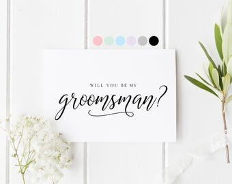 Will You Be My Groomsman, Card For Groomsman, Groomsman Proposal Card, Groomsman Request Cards, Be My Best Man, Wedding Card For Best Friend