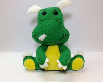 Dinosaur Stuffed Animal, Baby Dinosaur Softie Animal, Soft Fleece Baby Dinosaur Stuffed Animal, Dinosaur Toy Animal, Small Dinosaur Toy