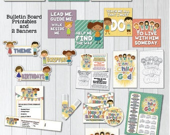 2018 LDS Primary Theme Printable Packet I Am A Child Of God Posters