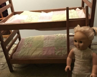 Wood bunk bed fits American girl doll