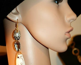 Earrings Baroque - tooth bean!