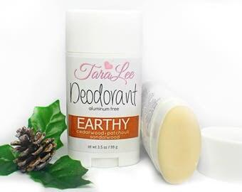 Earthy Deodorant, All Natural Deodorant, Vegan Deodorant, Aluminum Free Deodorant, TaraLee Deodorant