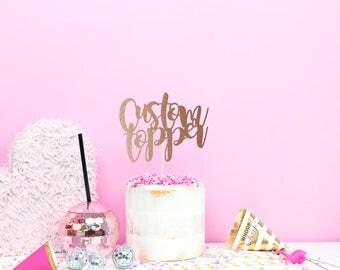 Wedding Cake Topper Custom