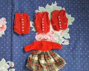 Lot of Tammy's Family Clothing Dress and Vest Group Ideal Toys Doll Clothes Tammy Barbie FS