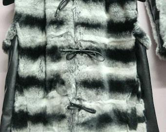 NEW! Natural,Real Rex chinchilla Fur Vest!