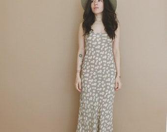 DAISY FLORAL DRESS // Boho Maxi Dress // Grunge Hippie // Flowergirl