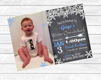 Customized First Birthday Invitations Boy or Girl