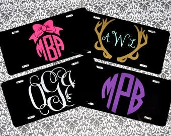 Custom Car Tags- Monogrammed Front License Plates