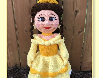 Belle Amigurumi (PDF download only, this is not the finished doll)