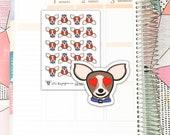 SHEL004 // Sheldon Heart Eyes // Planner Stickers