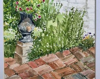 Original watercolor painting flowers, Last minute gift, Floral art