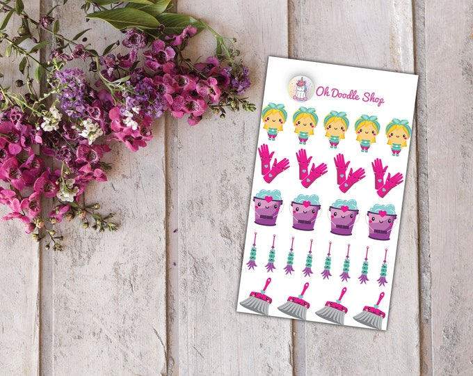 Clean Day Planner Stickers