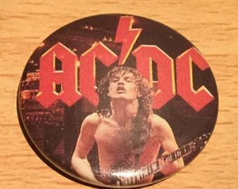 AC/DC Angus Young Vintage Badge