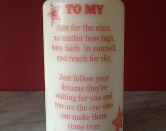Personalised Candle, To My Daughter Candle! Daughter's Gift,