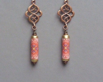 Boho Earrings, Ethnic Earrings, Bohemian Earrings, Oriental Earrings, Hippie Jewelry, Dangle Earrings, Friendship Gift, Birthday Gift