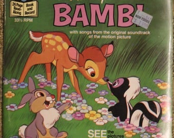 Walt Disney's Story of Bambi (1977, Disneyland Records, 33 1/3 RPM, Factory Sealed)