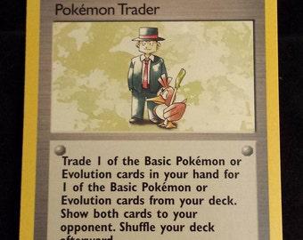 Vintage Rare Trainer - Pokemon Trader Base Set 2 Series Pokemon Card 106/130 - VG